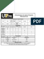 Programa de Manutenção Preventiva - Fresadora.xlsx
