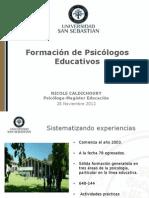 FORMACIÓN DE PSICÓLOGOS EDUCATIVOS