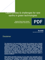 Opportunities and challenges for rare earths in green technologies, 2011