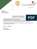 Baumängel an der Landesberufsschule Meran - Anfrage und Antwort Dez. 2012