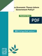 Basu Economic Theory