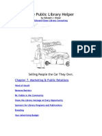 Marketing & Public Relations chapter from Public Library Helper by Edward Elsner