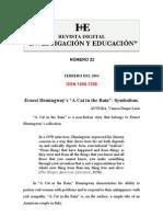 Nivel Educacion Sec Und Aria Titulo Hemingway's a Cat in the Rain Autora Vanesa Duque Leon