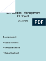 Non-Surgical Management of squint