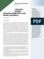 Arms trade control capacity building