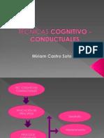 Exposicion de Tecnicas Cogntivo Conductuales