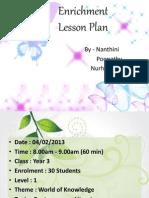 Enrichment Lesson Plan