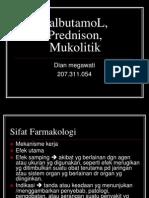 SalbutamoL, Prednison, Mukolitik