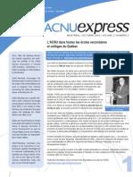 ACNUExpress Vol.2 No.2 - Octobre 2003