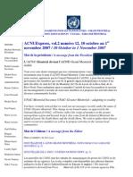 ACNUExpress Vol.2 No.12 - Du 10 Au 30 Octobre 2007