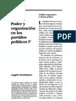 Poder y organización en los partidos políticos I - Angelo Panebianco