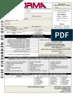 Membership Form Spanish 2012