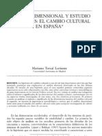 Análisis dimensional y estudio de valores