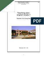 Teaching Plan Grade 7