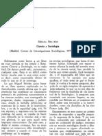 Ciencia y Sociología, Madrid, CIS, 1979