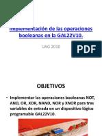PLDfeb-7Implementación de las operaciones booleanas en la GAL22V10