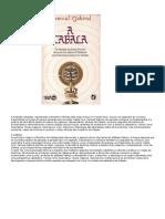 A cabala (tradição cabalista)reformatada - (completo; ilustrado, com capa) - Samuel Gabirol