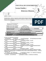 Evaluacion de PFRH Tercero