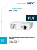 NEC Datasheet NP100-English