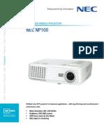 NEC Datasheet NP100-English