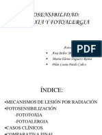 Fotosensibilidad Fototoxia y Fotoalergia