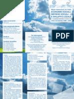 Brochure Economie Sociali, Imprese Sociali e Sviluppo Locale - master organizzato dalla facoltà di Scienze Politiche Federico II Napoli e da Gesco Sociale