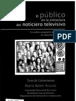 2009-EL PUBLICO EN LA ESTRUCTURA DEL NOTICIERO. UNA ANALISIS COMPARATIVO ENTRE NOTICIEROS DE ARGENTINA, BRASIL Y CHILE