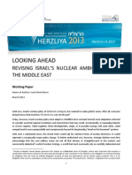 LOOKING AHEAD  REVISING  ISRAEL'S  NUCLEAR  AMBIGUITY IN  THE MIDDLE EAST