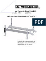 4 Post Lift Manual