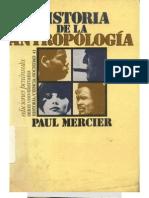Mercier, Paul. Historia de la Antropología