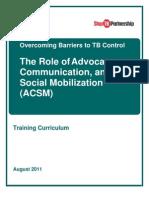 ACSM Training Curriculum