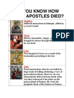 Do You Know How the 13 Apostles Died