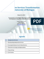 Administrative Services Transformation at the University of Michigan