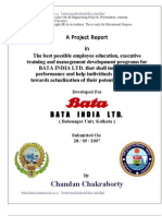 Project Report on HR in BATA
