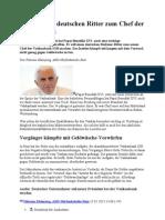 Vatikan Und Seine Auswirkung 04 Papst Macht Deutschen Ritter Zum Chef Der Vatikanbank