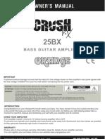 Pix CR25BX Manual