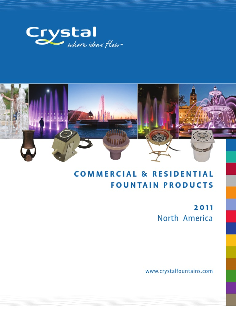 2012 Crystal Fountains Catalog Nozzle Business