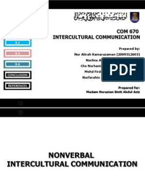 Icc Presentation Nonverbal Communication Communication Chronemics is a term that describes what' time' has to do (or what role time plays) in 'communication'. scribd