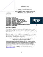 RFP 2012-015 CEQA Analysis for PEV Readiness Plan