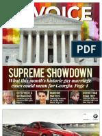 The Georgia Voice - 3/15/13 Vol.4, Issue 1