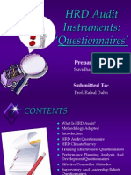 HRD Audit Instruments Questionnaire