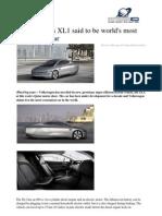 2011 01 Volkswagen Xl1 World Economical Car