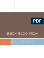 Speech Recognition Seminar