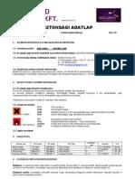 BB Ridgefiller - Biztonsági adatlap