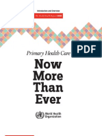 Primary Health Care WHO Overview[1]