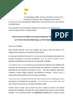 Lettre Ouverte Du Dr de Lorgeril Au Pr Grimaldi