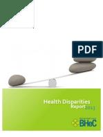 Health Disparities Report 2013 Final