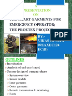 The smart garments for emergency operator