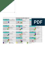 Calendário reunião 2013