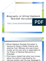 Biography of Alfred Habdank Skarbek Korzybski